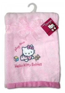 Kocyk z Mikrofibry 76x102 HELLO KITTY wz. 3
