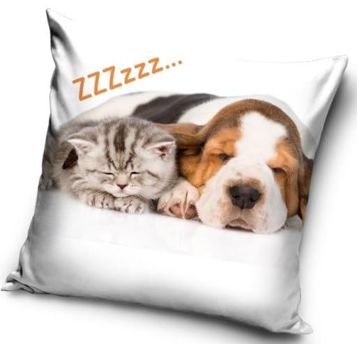 Poduszka Dekoracyjna Dla Dzieci Kot I Pies